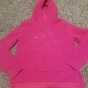 Pink on pink ADIDAS hoodie